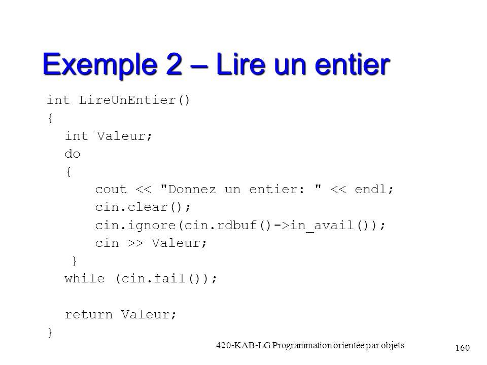 Exemple 2 – Lire un entier