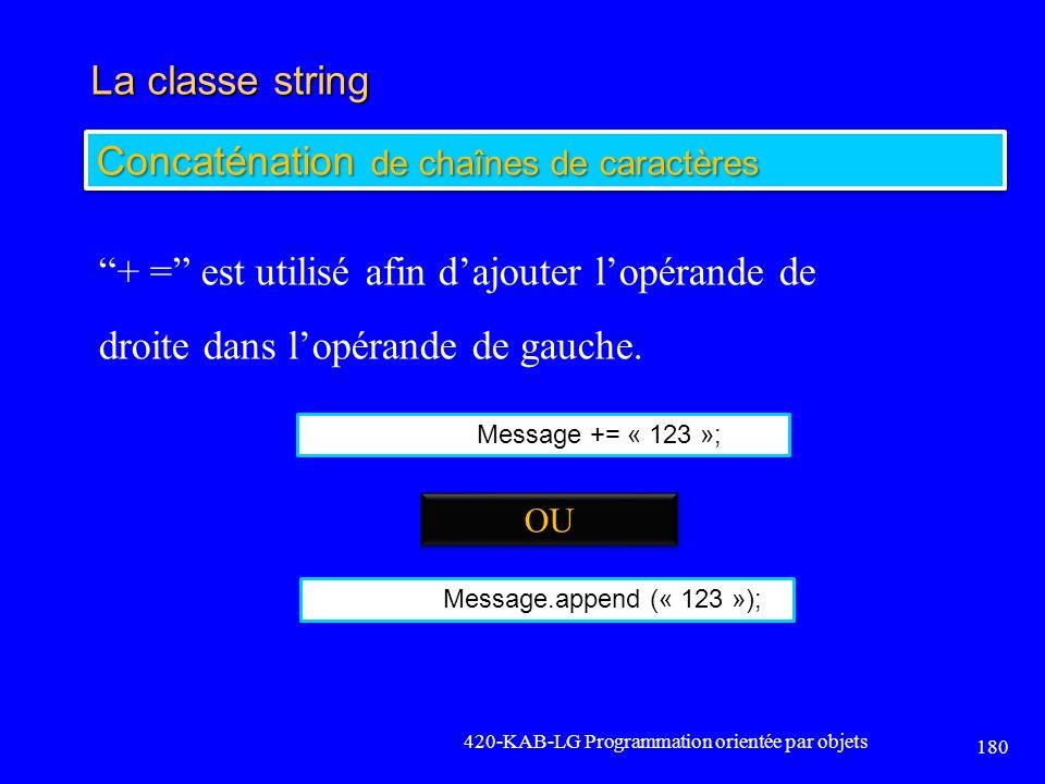 Concaténation de chaînes de caractères