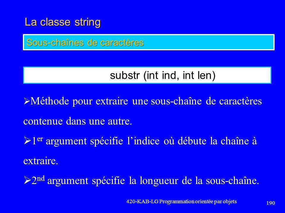 substr (int ind, int len)