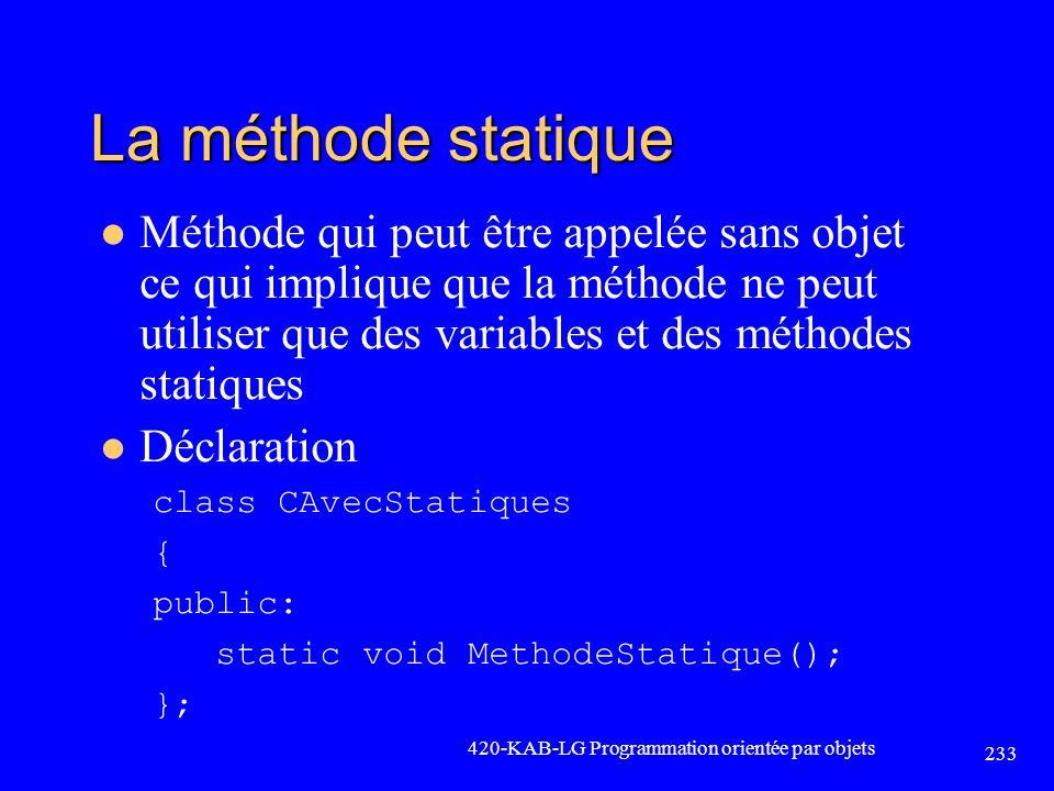 La méthode statique