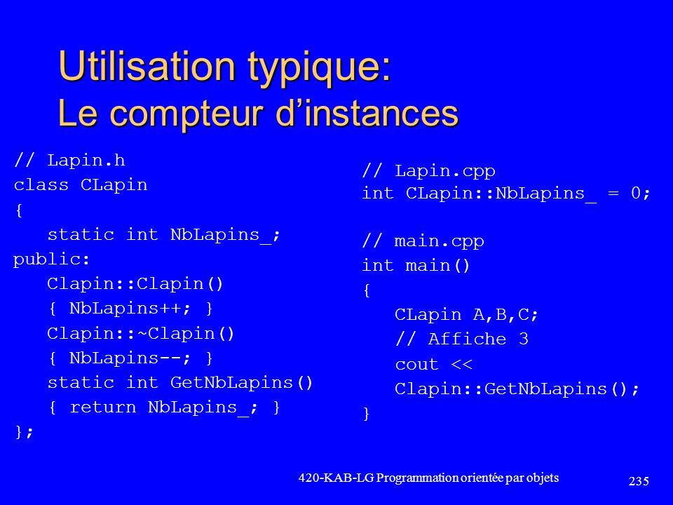 Utilisation typique: Le compteur d'instances