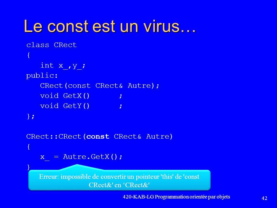 Le const est un virus… const