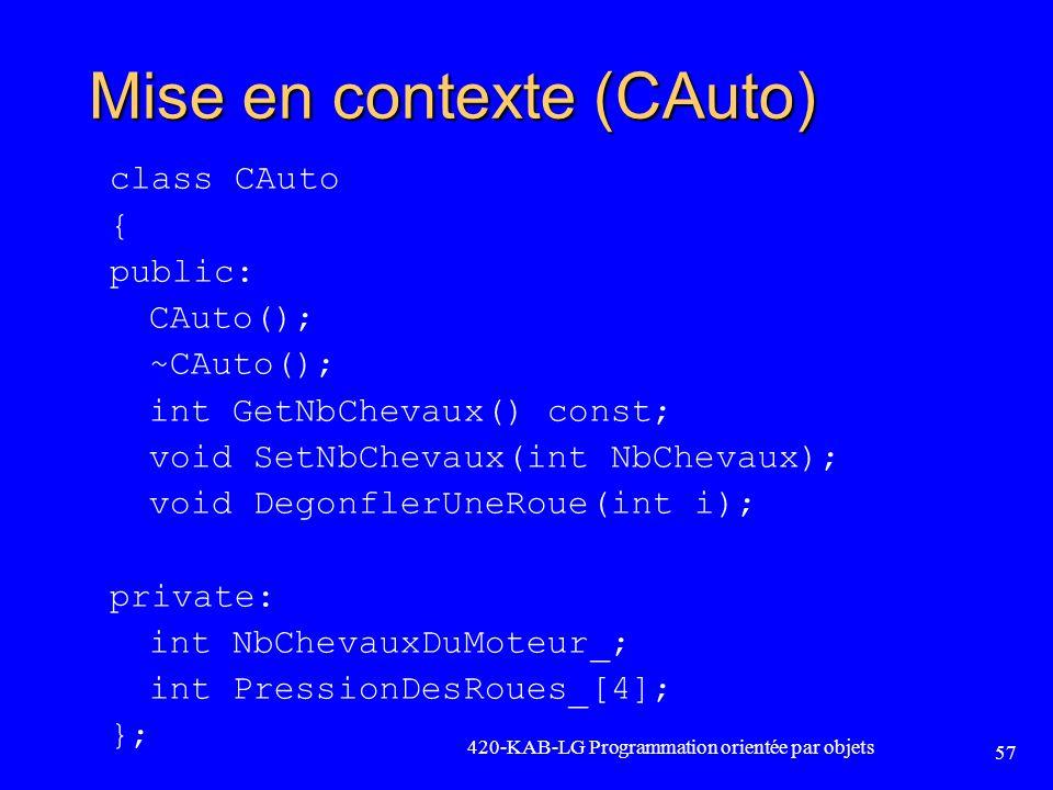 Mise en contexte (CAuto)