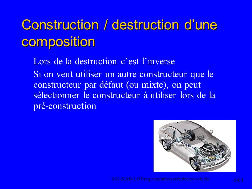 Construction / destruction d'une composition