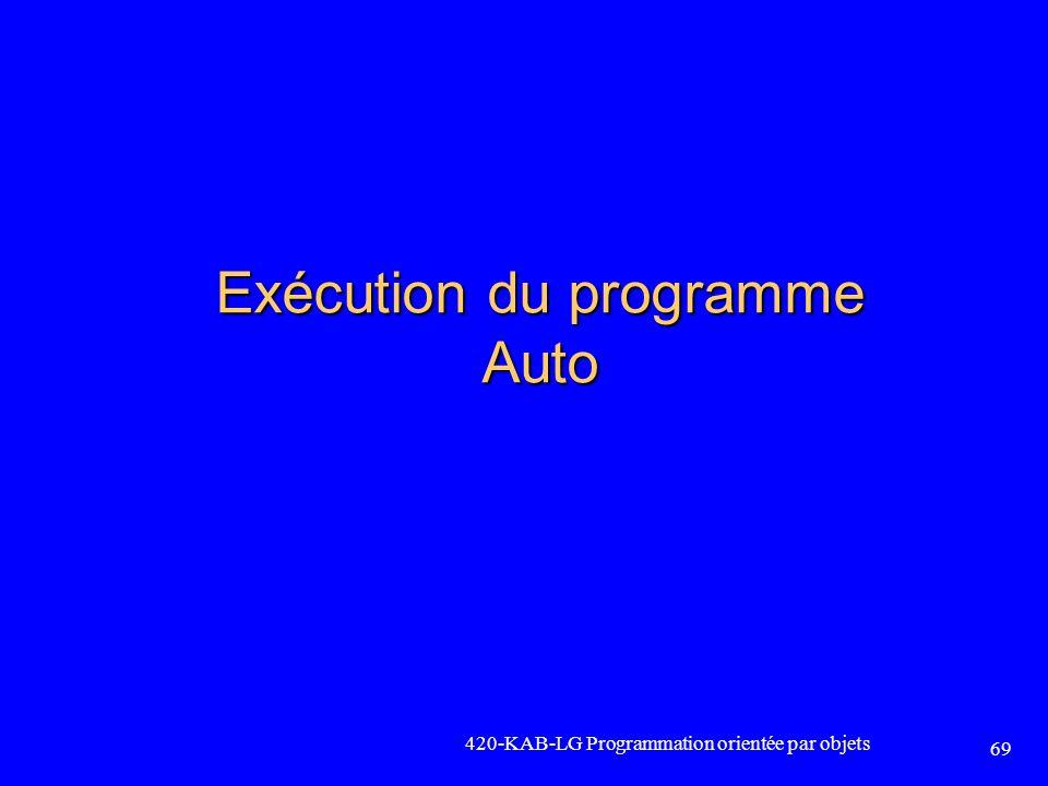 Exécution du programme Auto