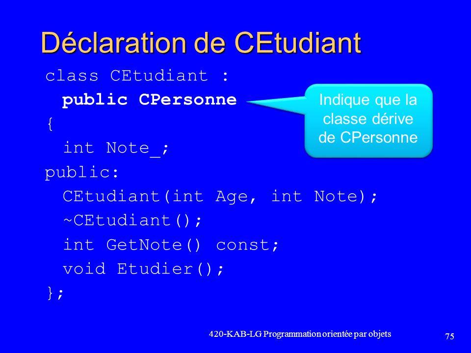 Déclaration de CEtudiant