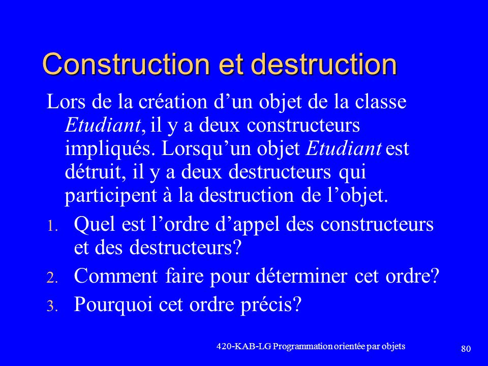 Construction et destruction