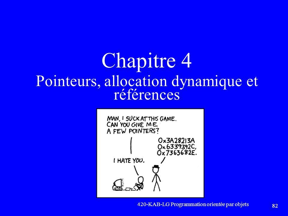 Chapitre 4 Pointeurs, allocation dynamique et références