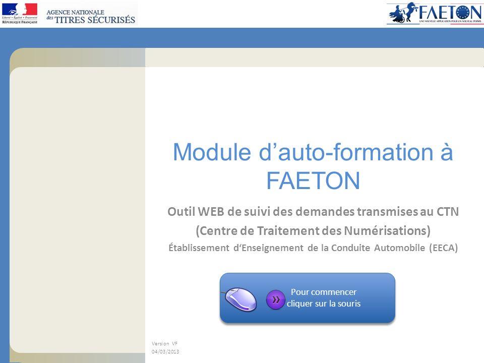 Module d'auto-formation à FAETON