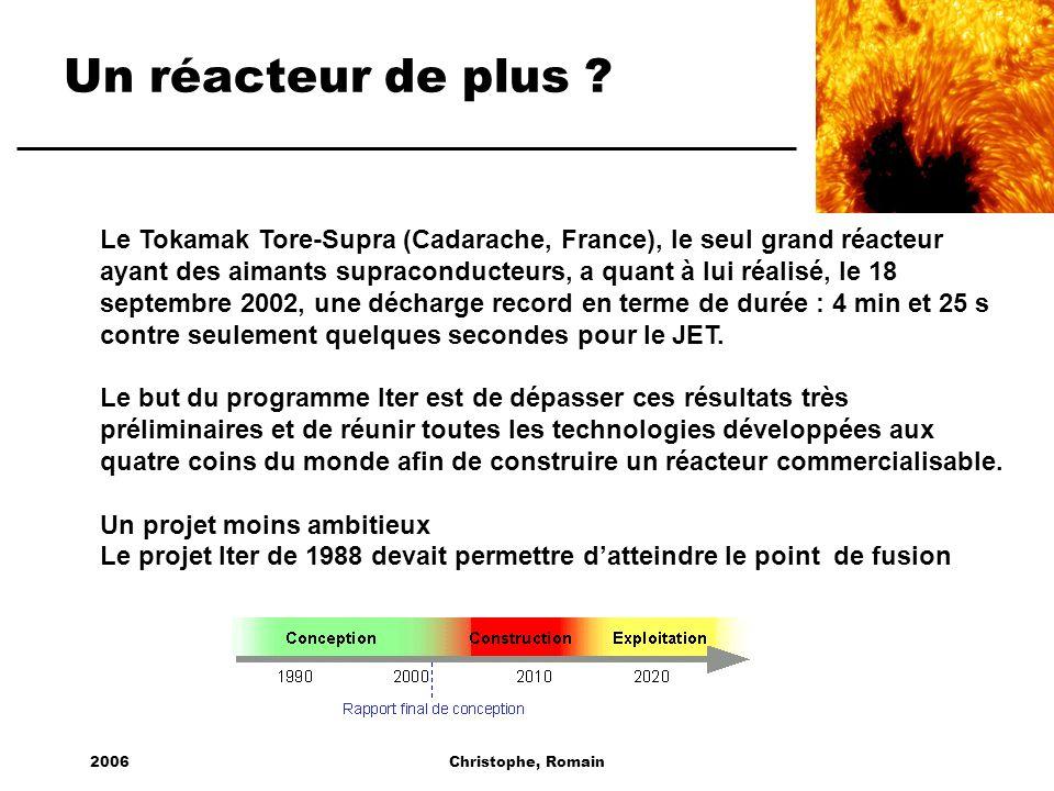 Un réacteur de plus