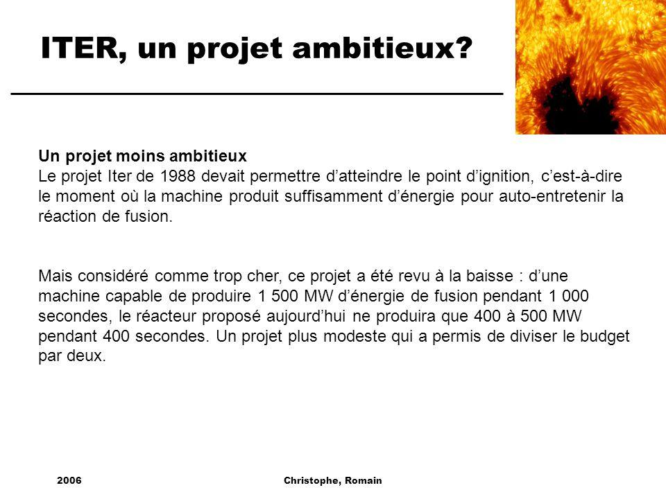 ITER, un projet ambitieux