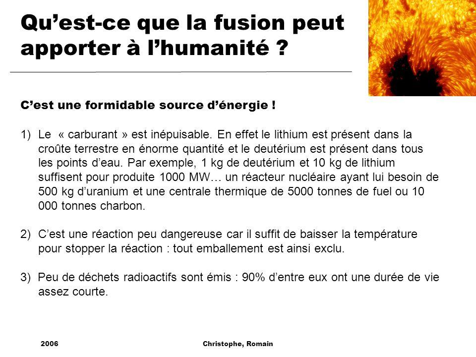 Qu'est-ce que la fusion peut apporter à l'humanité