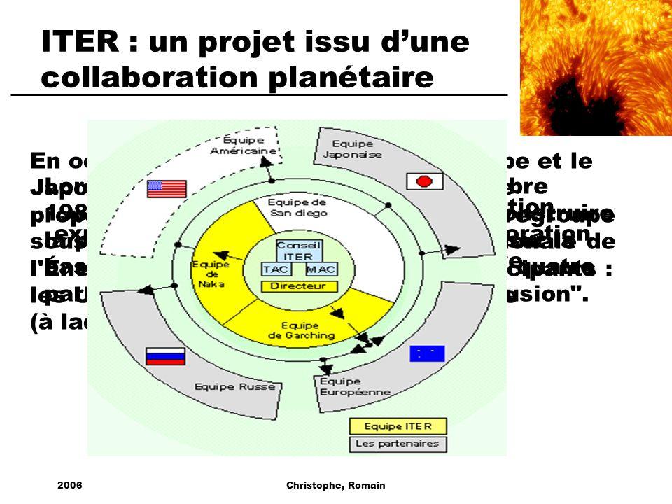 ITER : un projet issu d'une collaboration planétaire
