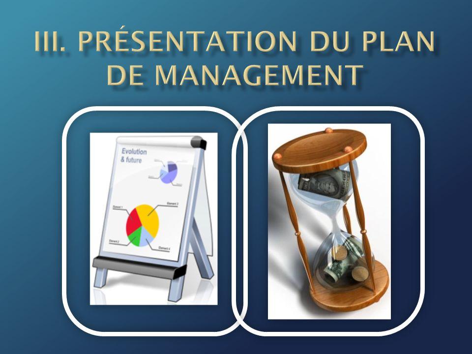 III. Présentation du Plan de Management
