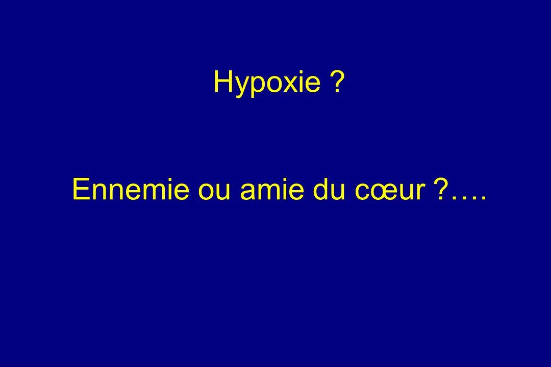 Hypoxie Ennemie ou amie du cœur ….
