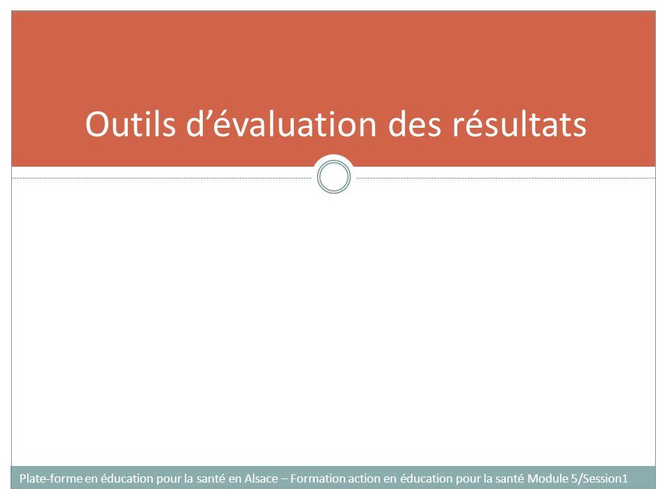 Outils d'évaluation des résultats