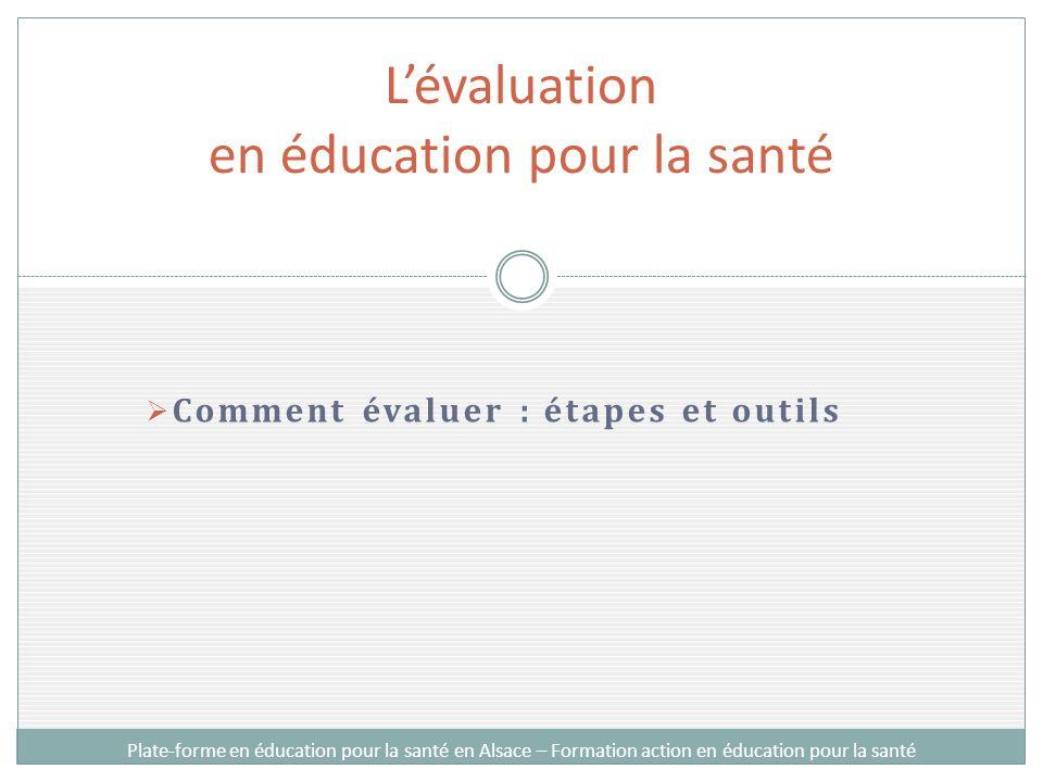 L'évaluation en éducation pour la santé