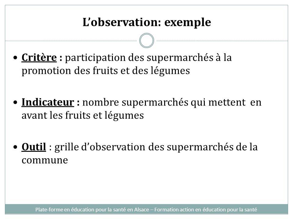L'observation: exemple