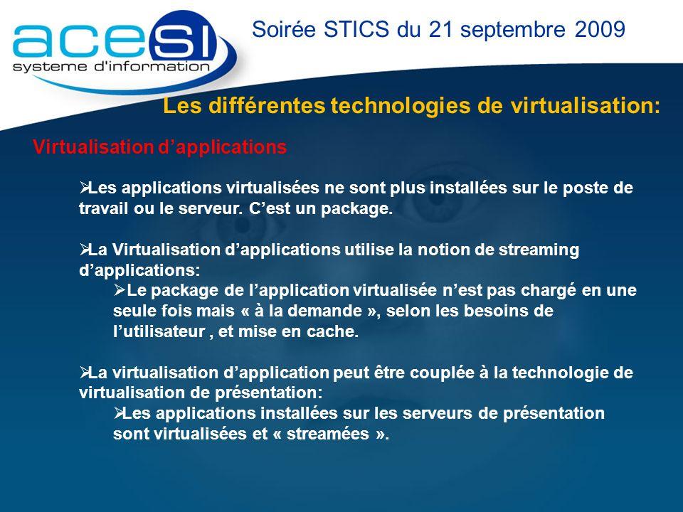 Soirée STICS du 21 septembre 2009