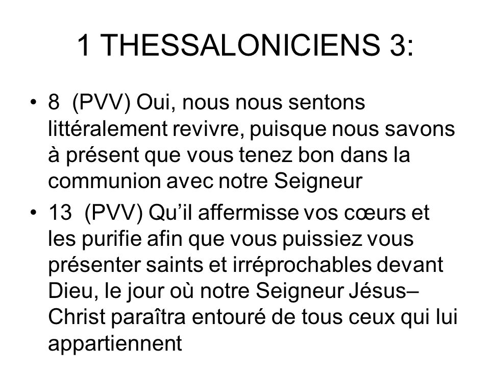 1 THESSALONICIENS 3: