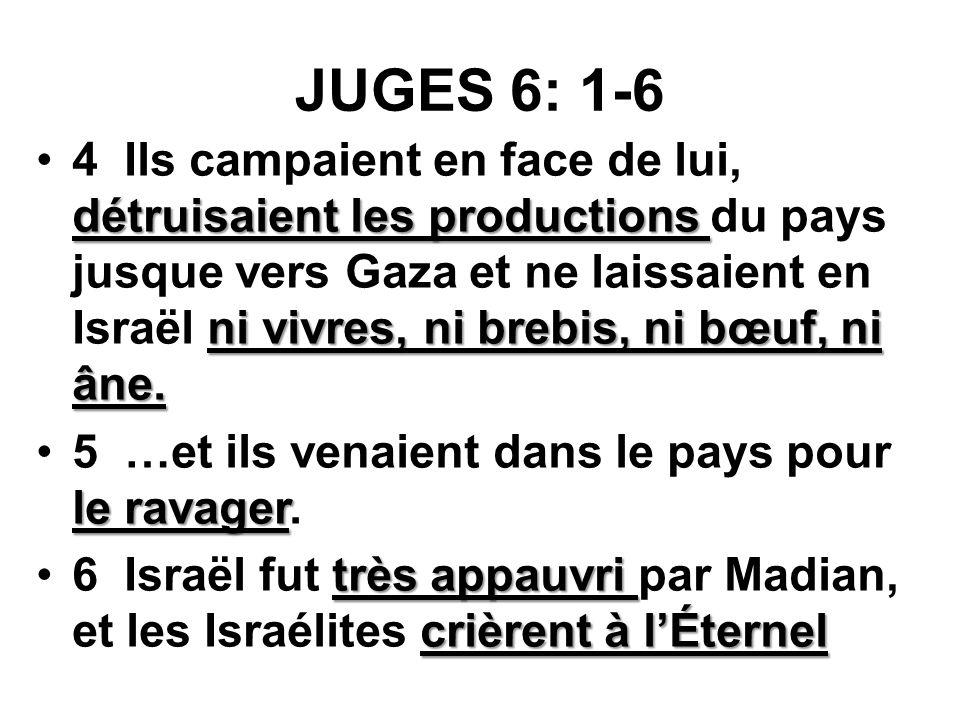 JUGES 6: 1-6