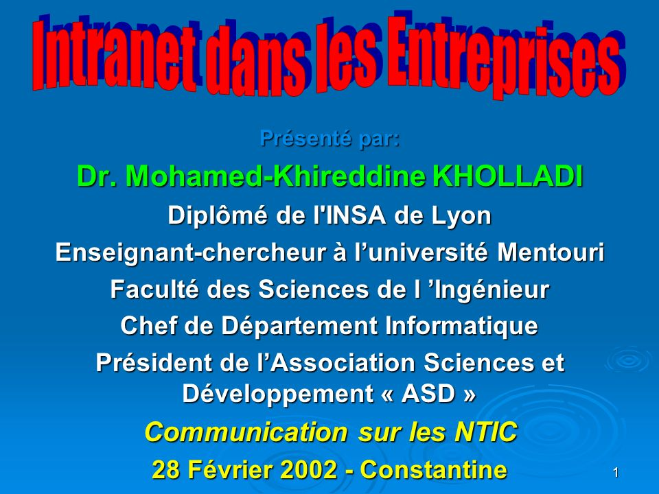 Dr. Mohamed-Khireddine KHOLLADI