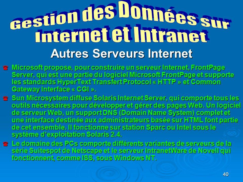 Autres Serveurs Internet
