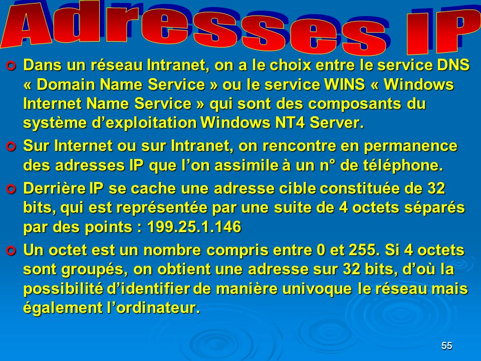 Adresses IP