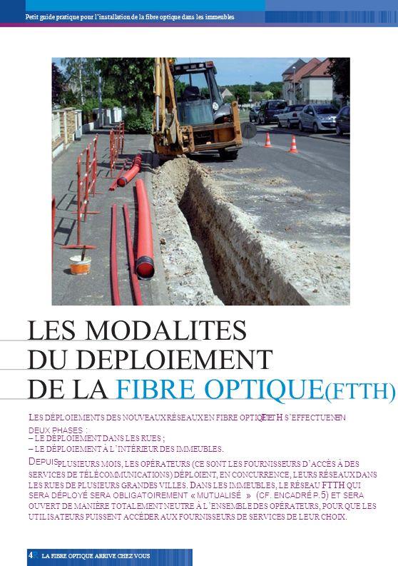 DE LA FIBRE OPTIQUE(FTTH)