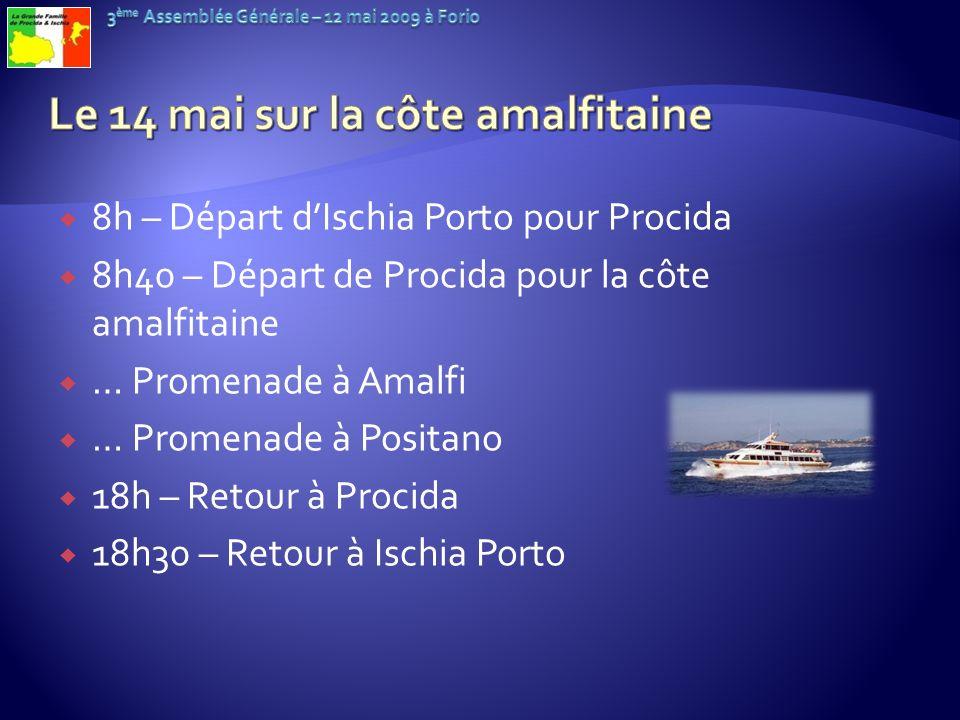 Le 14 mai sur la côte amalfitaine