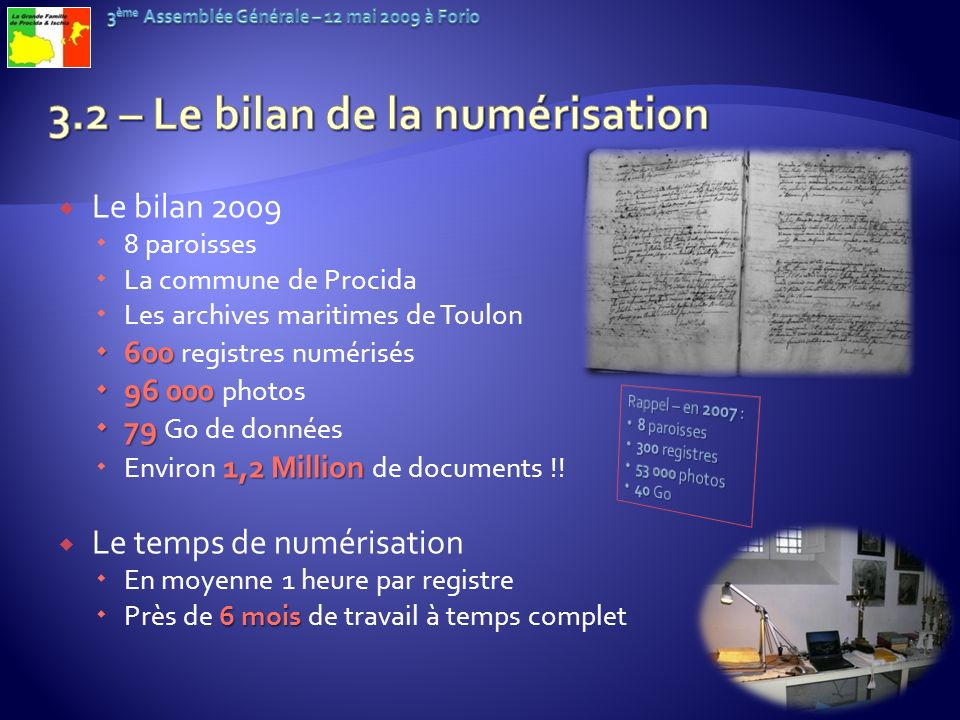 3.2 – Le bilan de la numérisation