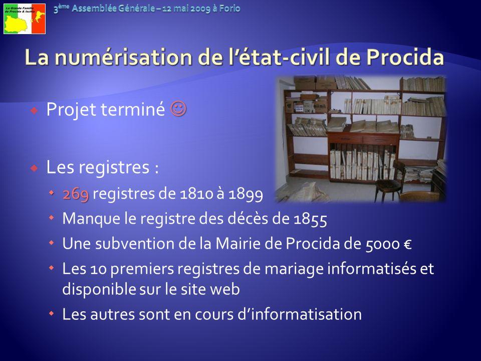 La numérisation de l'état-civil de Procida