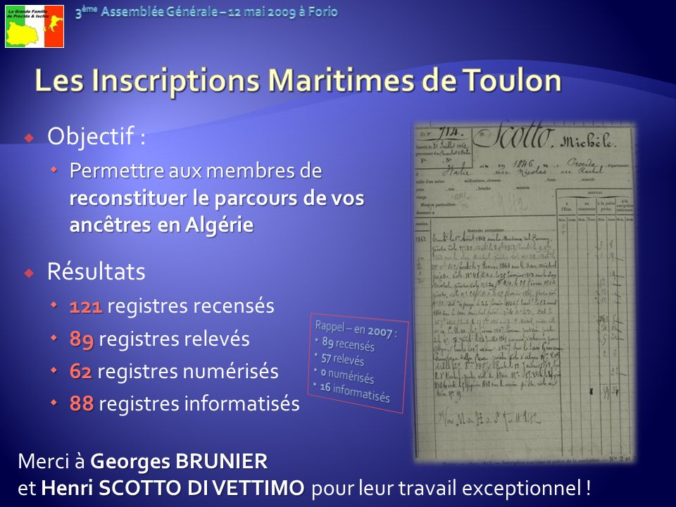 Les Inscriptions Maritimes de Toulon