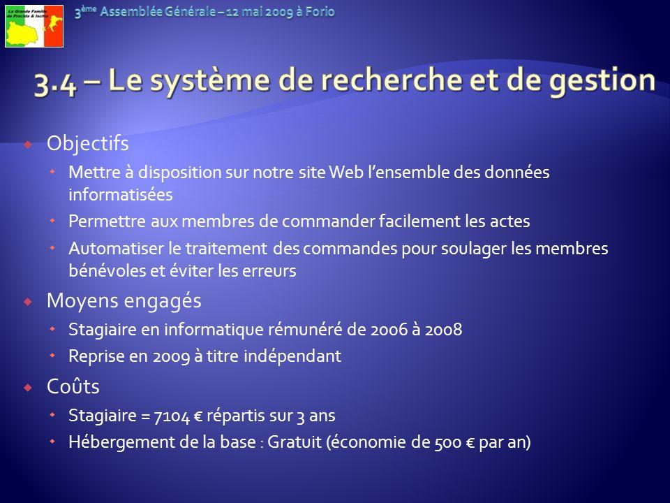 3.4 – Le système de recherche et de gestion