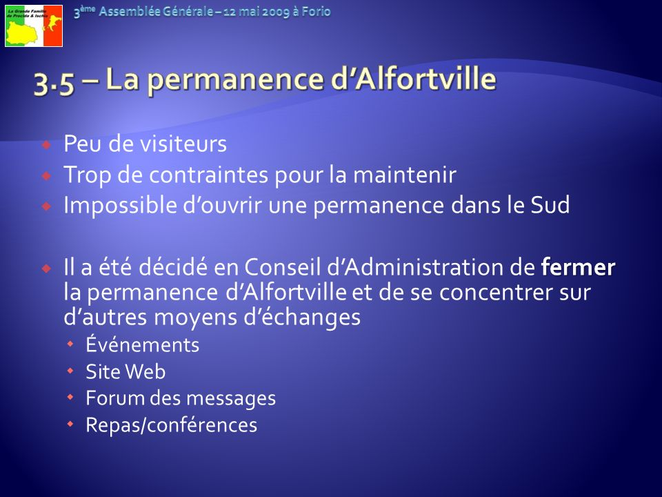 3.5 – La permanence d'Alfortville