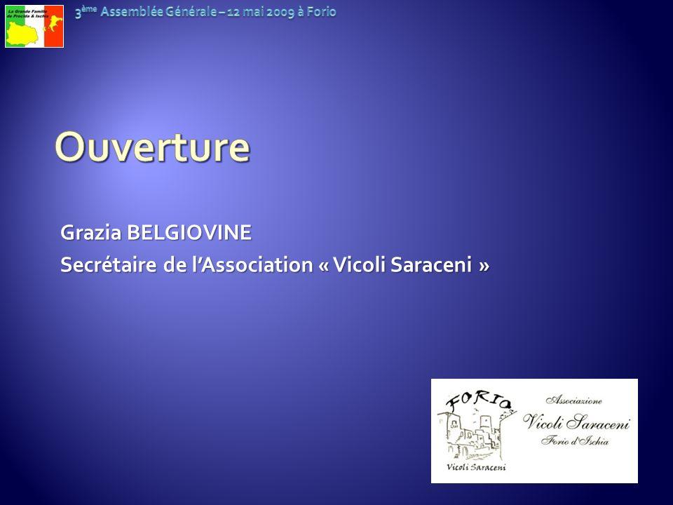 Ouverture Grazia BELGIOVINE