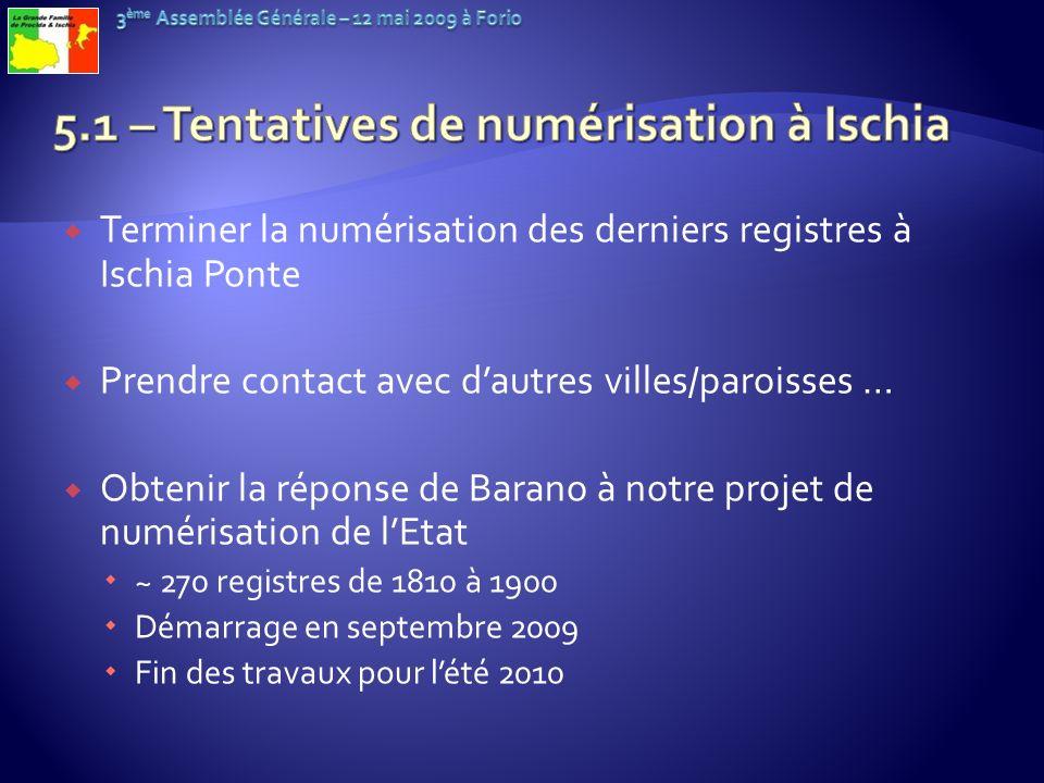 5.1 – Tentatives de numérisation à Ischia