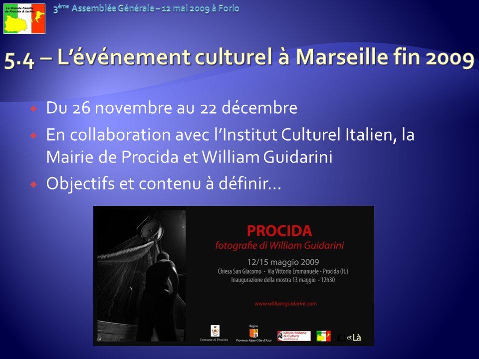 5.4 – L'événement culturel à Marseille fin 2009