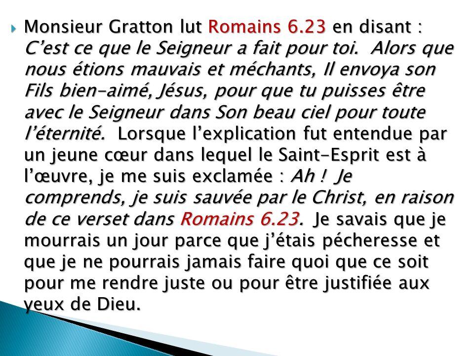 Monsieur Gratton lut Romains 6