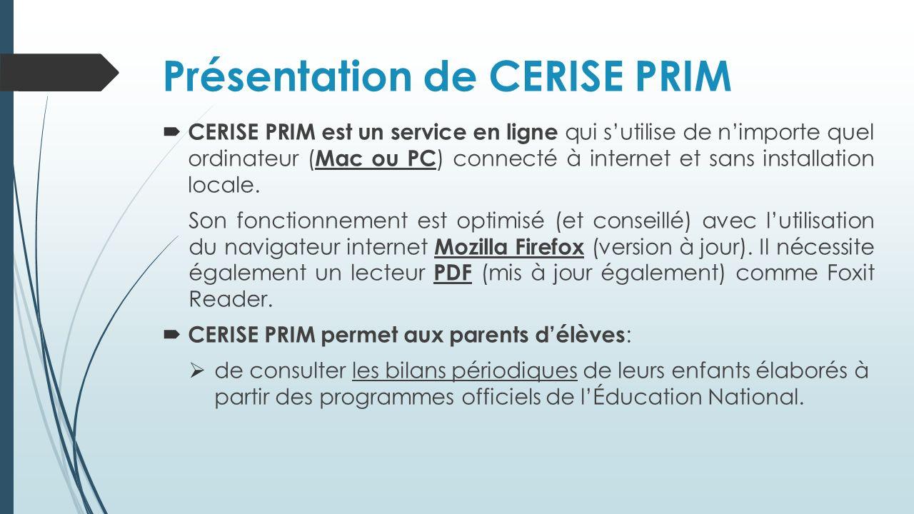 Présentation de CERISE PRIM