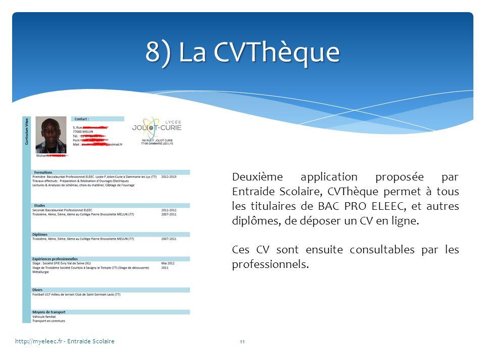 8) La CVThèque