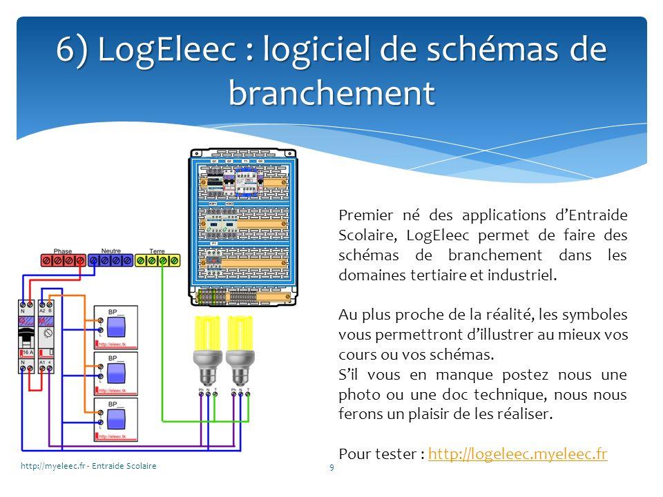 6) LogEleec : logiciel de schémas de branchement