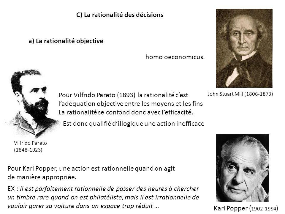 C) La rationalité des décisions