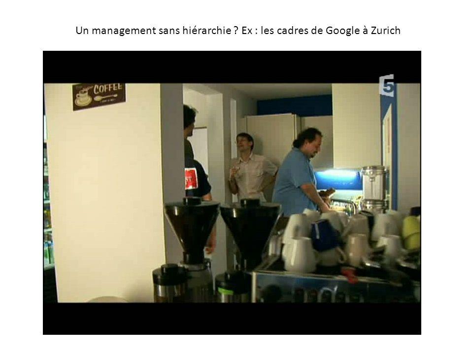 Un management sans hiérarchie Ex : les cadres de Google à Zurich