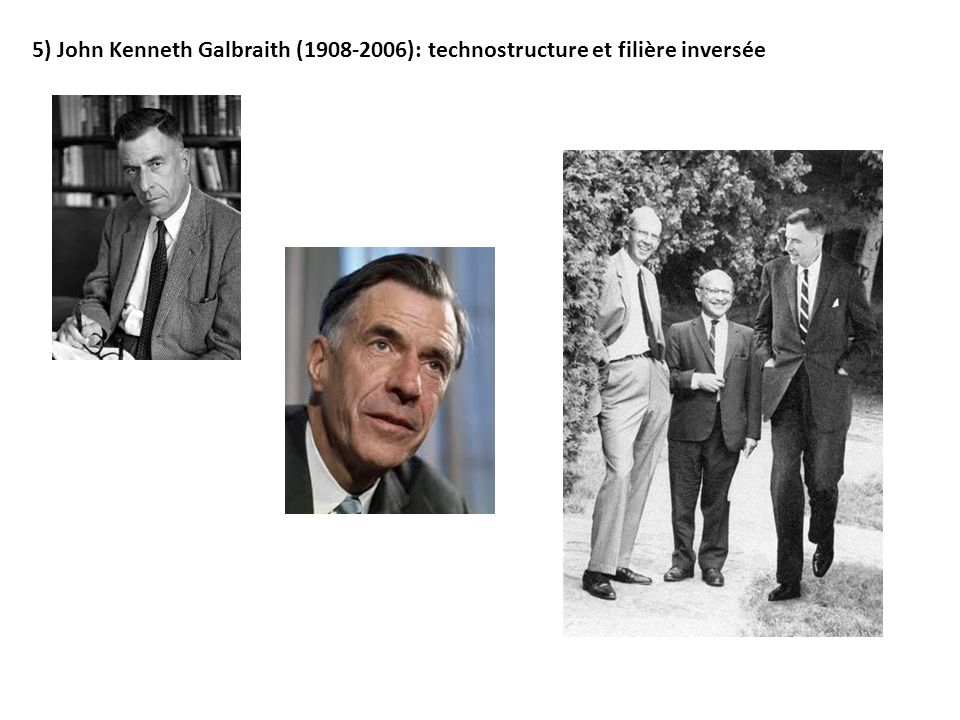 5) John Kenneth Galbraith (1908-2006): technostructure et filière inversée