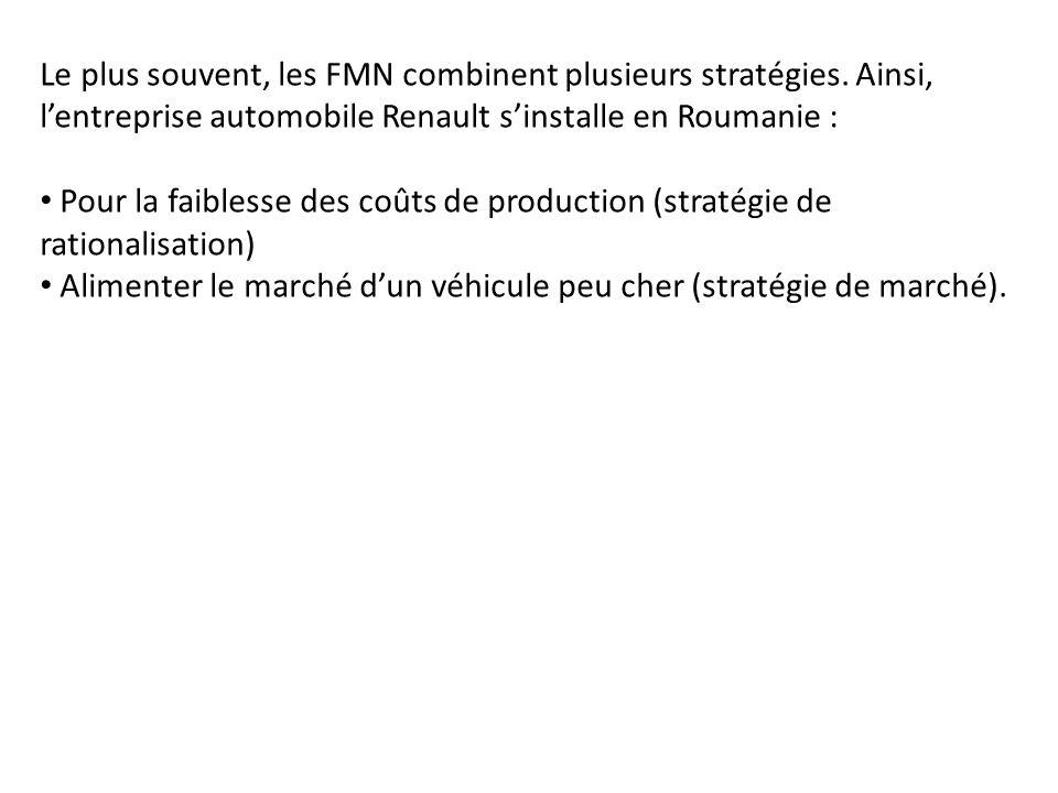 Le plus souvent, les FMN combinent plusieurs stratégies
