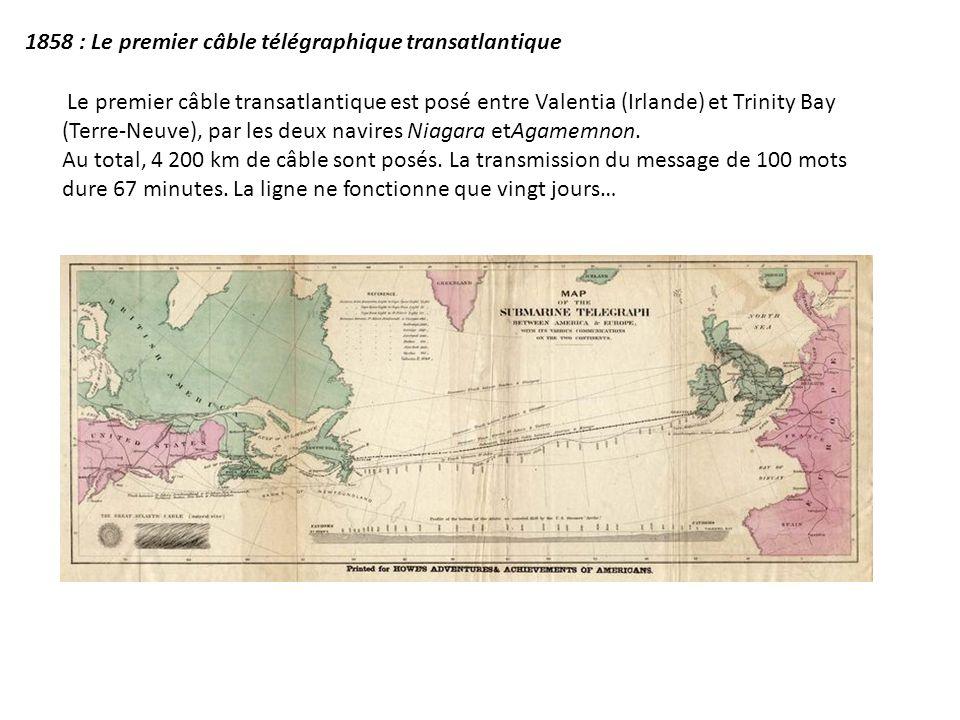 1858 : Le premier câble télégraphique transatlantique