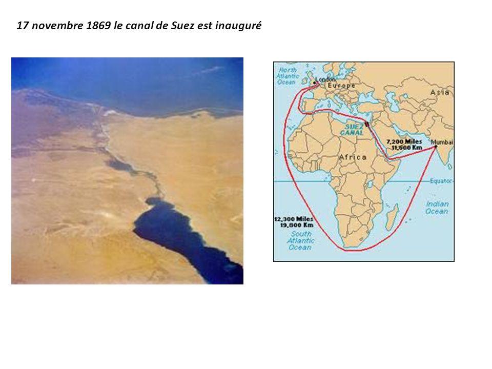 17 novembre 1869 le canal de Suez est inauguré