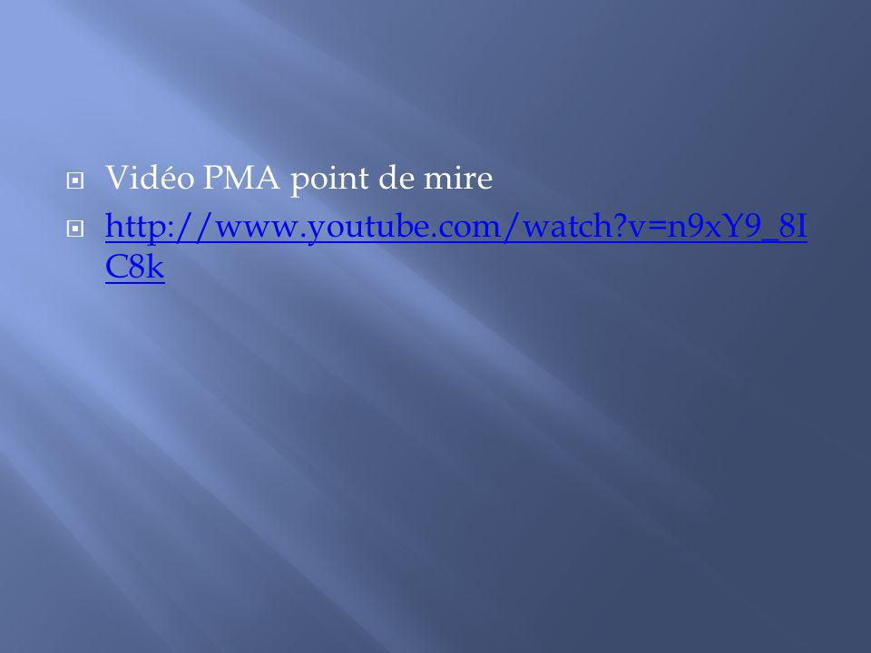 Vidéo PMA point de mire http://www.youtube.com/watch v=n9xY9_8IC8k