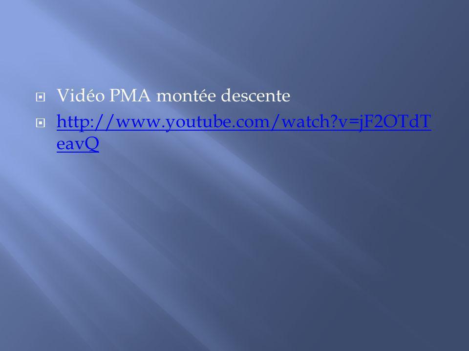 Vidéo PMA montée descente